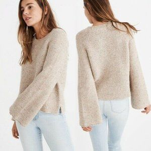 Madewell Flecked Wide-Sleeve Pullover Sweater Bell